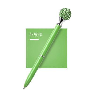 1X Metal Diamond Head Crystal Ballpoint Pen Creative Pen Stationery Gift Fashion 6