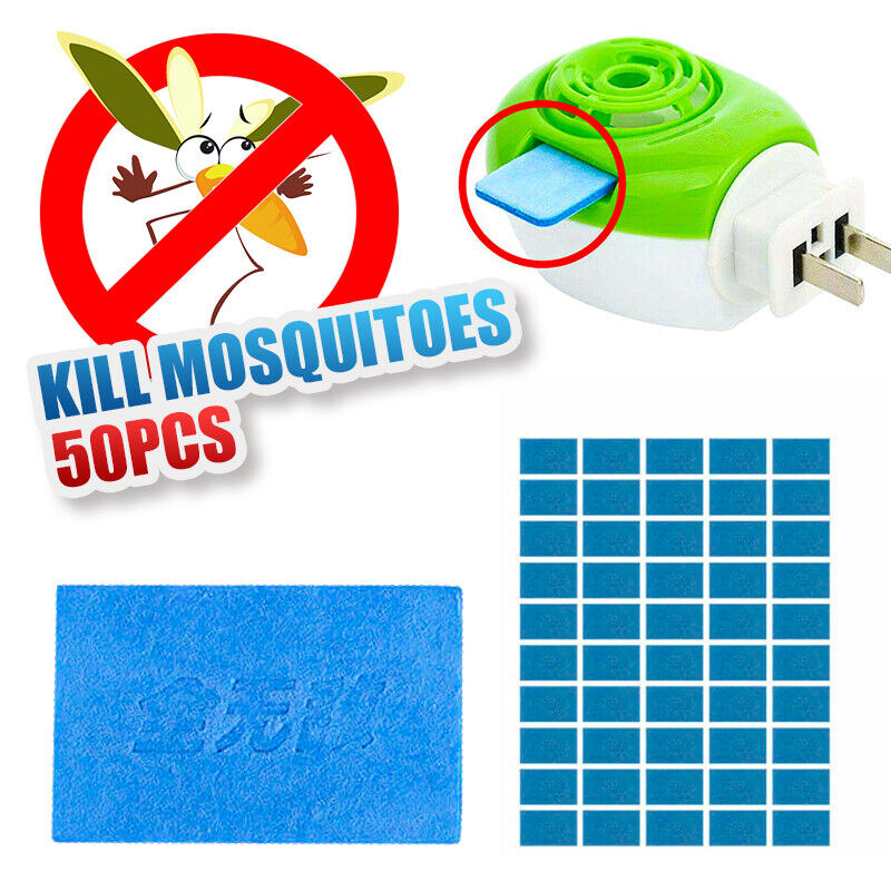 50x Mosquito Repellent Insect Bite Mat Tablets Refills Replace Pest Repeller NEW 4