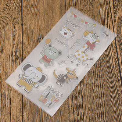 Various Silicone Clear Stamp Transparent Rubber Stamps DIY Scrapbooking Craft 6