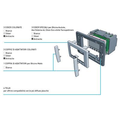3S Termostato Ambiente Da Incasso Touchscreen A Batterie Ch121Ts Fantini Cosmi 3