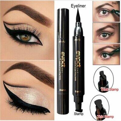 Winged Eyeliner Seal Stamp Black Cat Eye Double Head Eyeline Pen Makeup Tool 4