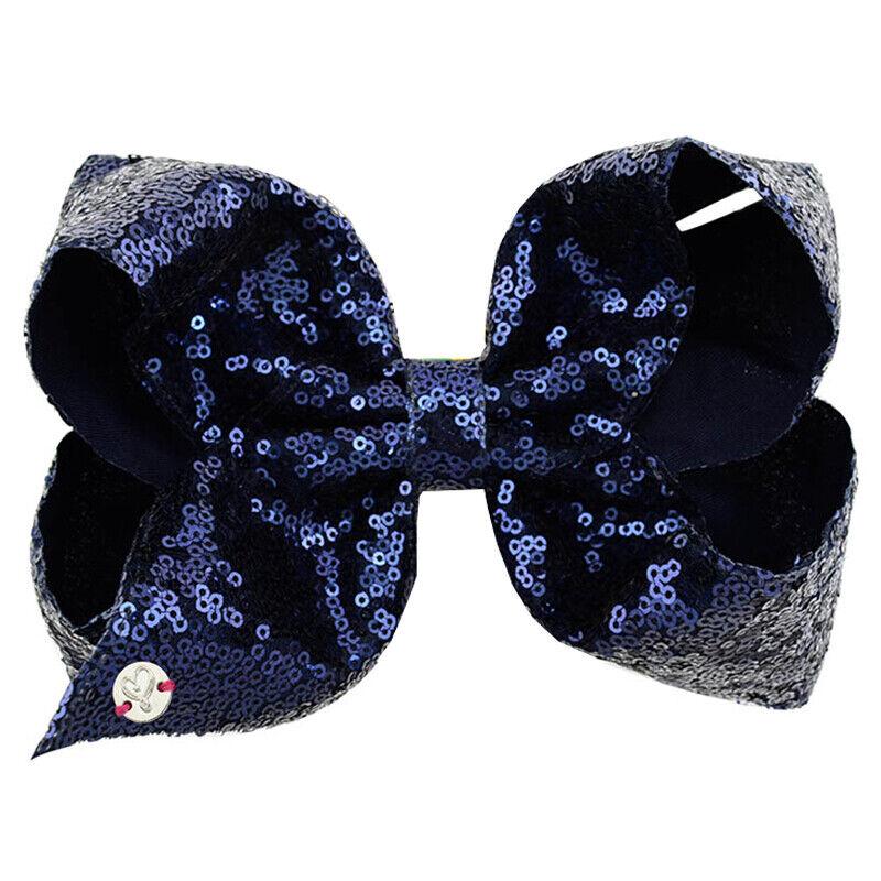 8 Inch Kids Girls Baby Glitter Sequin Cute Bowknot Hair Clips Hair Bows Hairpins 3