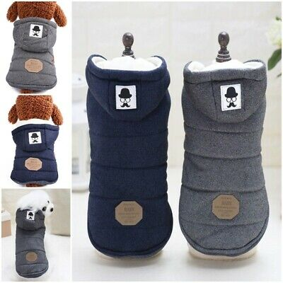 Winter Dog Coats Pet Cat Puppy Chihuahua Clothes Hoodie Warm for Small Dog S~XXL 4