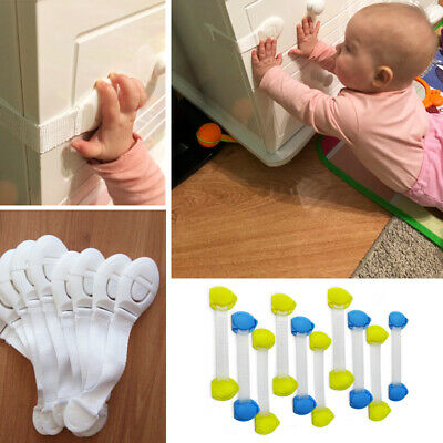 10 Pcs Child Infant Baby Kids Drawer Door Cabinet Cupboard Toddler Safety Locks 2