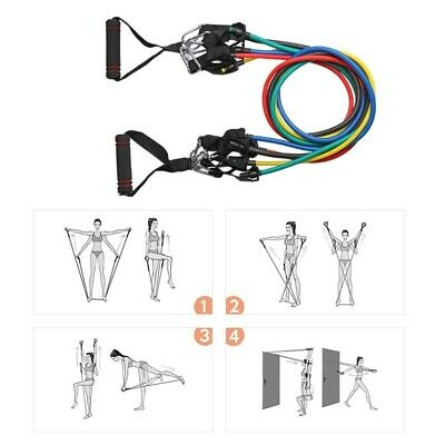 11pcs Resistance Bands Set Exercise Fitness Tube Workout Bands Strength Training 5