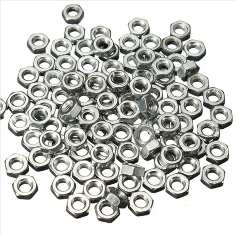 100pcs/set  M3 M4 M5 M6 STAINLESS STEEL HEX FULL NUTS HEXAGON NUT Wholesale 2
