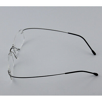 RIMLESS GLASSES MEN Optical Eyeglasses Memory Titanium Spectacles ...