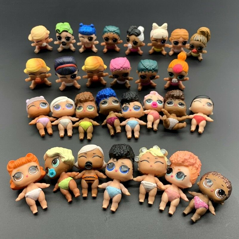 Random 5Pcs LOL Surprise Doll Lil Sisters Cute Girl Baby Figure Toys 1.5'' 405 7