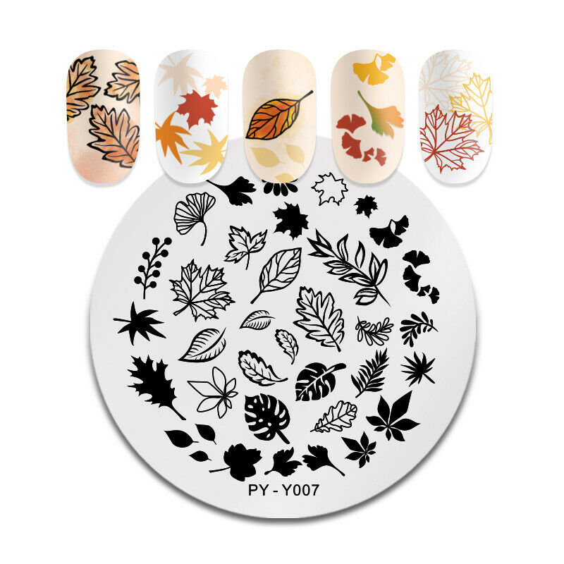 PICT YOU Nail Stamping Plates Christmas Fowers Tropical Geometry Image Templates 6