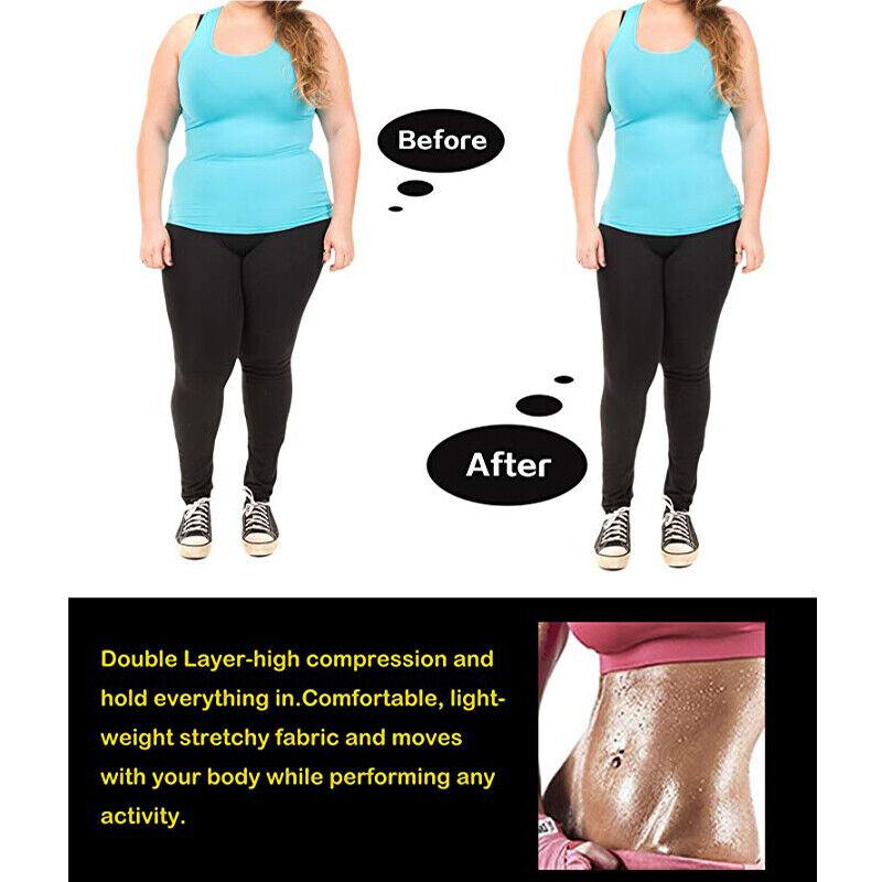 Women Body Shaper Shapewear Waist Trainer Cincher Underbust Corset Sauna Vest US 9