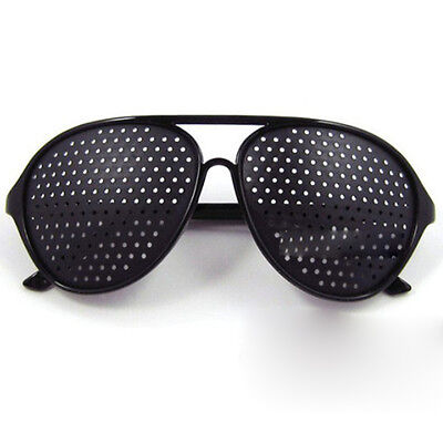 New Black Vision Care Eyesight Improver Anti-fatigue Stenopeic Pinhole Glas N8I5 2
