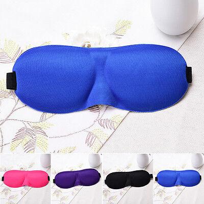 3D Mascherina per Dormire gli Occhi Benda da Notte Occhiali Mask Viaggi a Casa 4