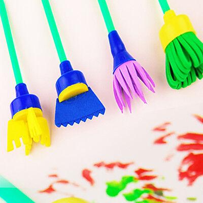 1 Of 7FREE Shipping 4PCS DIY Flower Stamp Sponge Brush Tool Set Art Supplies Kids Painting Tools