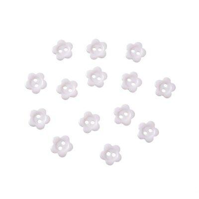 lot 20 bouton blanc fleur 2 trou 10 mm couture scrapbooking création art créatif 5