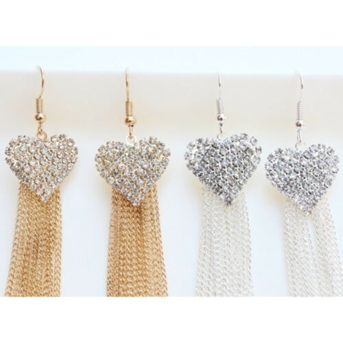 Chic Ladies Love Heart Shape Tassel Earrings Anniversary Party Jewellery one 7