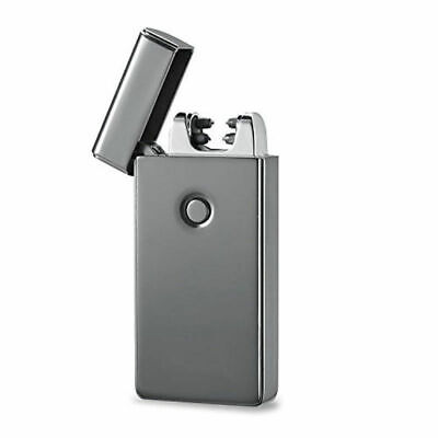 Cigarette Lighter Pulse Arc Windproof Flameless Metal USB Rechargeable Electric 3