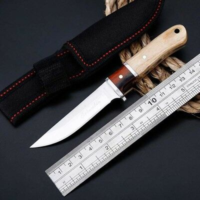 """6"""" Tactical Straight Pocket Hunting Survival Fixed Blade Knife EDC With Sheath 2"""