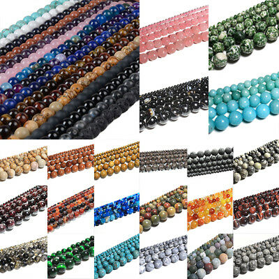 Wholesale Natural Matte Gemstone Round Spacer Loose Beads 4mm 6mm 8mm 10mm 12mm 4