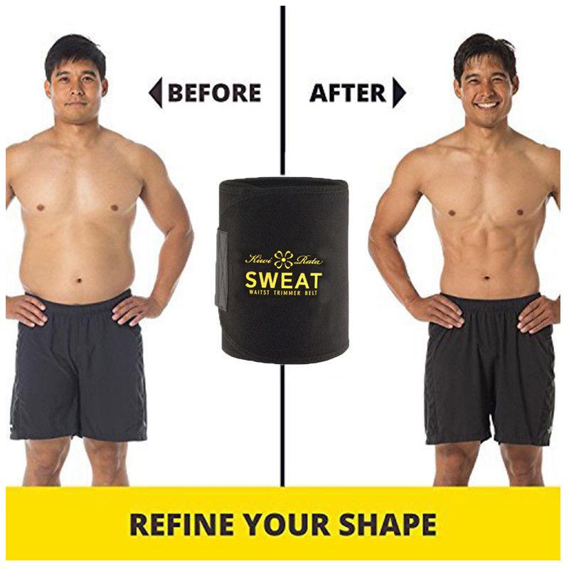 Hot Men's Neoprene Sauna Shapewear Sweat Belt Waist Cincher Trainer Body Shaper 3
