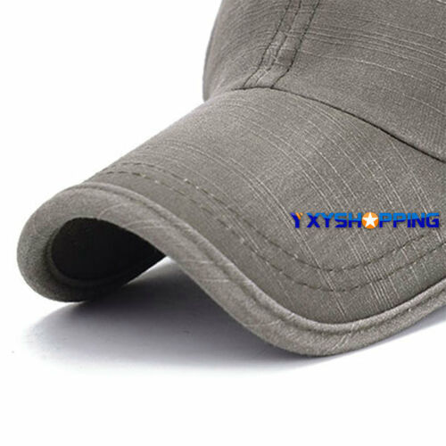 Unisex Retro Men Plain Classic Baseball Caps Peaked Stonewash Casual Sports Hats 7