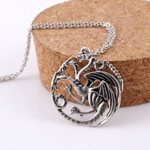 Game of Thrones House Stark Targaryen Dragon Chain Pendant Necklace Jewelry Gift 11