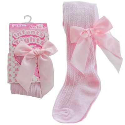 Soft Touch Baby Girls Tights Spanish Style Bows Cotton Rich