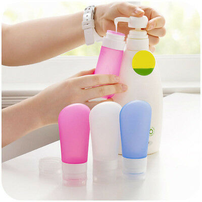 Tube Squeeze Silicone Travel Bottles Shampoo Shower Gel Lotion Sub-bottling Best 8