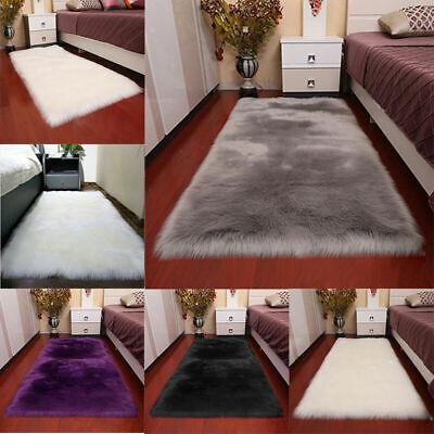 Super Soft Large Sheepskin Rugs Faux Wool Fluffy Plush Fur Rug Carpet Fur Mat 2