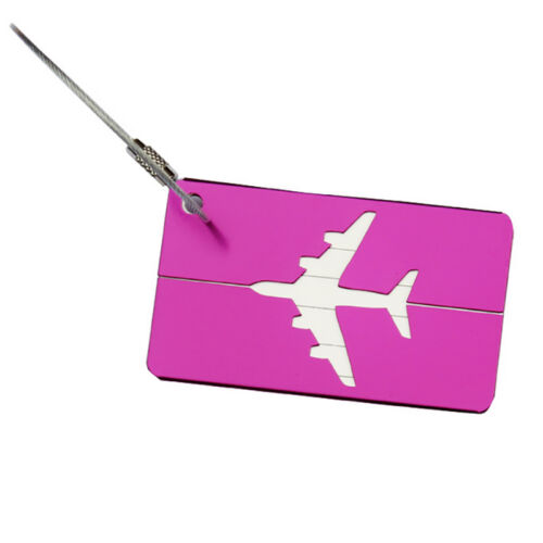 Aluminium Travel Luggage Baggage Tag Suitcase Identity Address Name Label 10