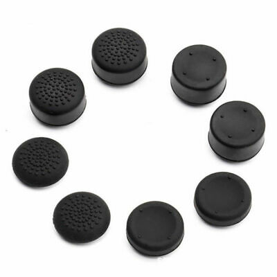 8Pcs Black Silicone Thumb Stick Grip Cover Caps For PS4 & Xbox One Controller US 9