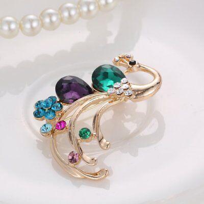 Flower Rhinestone Brooch Pin Women's Wedding Bridal Bouquet Crystal Jewelry Gift 2
