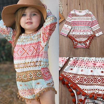 Newborn Baby Girl Romper Bodysuit Jumpsuit Cotton Sunsuit Outfits Clothes 0-6M 3