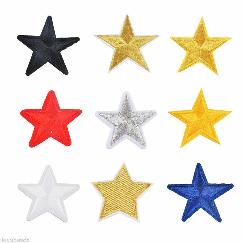 10X Star Embroidery Sew Iron On Patch Badge Clothes Applique Bag Fabric New