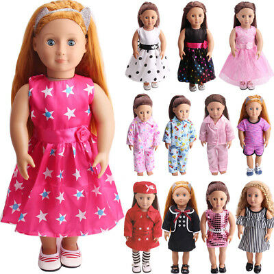 US Doll Clothes Dress Outfits Pajames For 18 inch American Girl Our Generation 2
