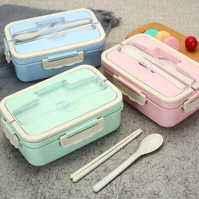 Lunchbox–Bento Box–Brotdose–für Erwachsene und Kinder| mit Besteck aus Edelstahl 5