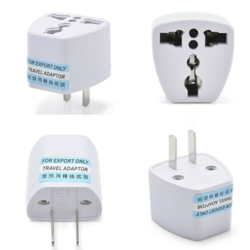 EU Europe Euro UK to USA US AC Travel Charger Power Adapter Converter Wall Plug