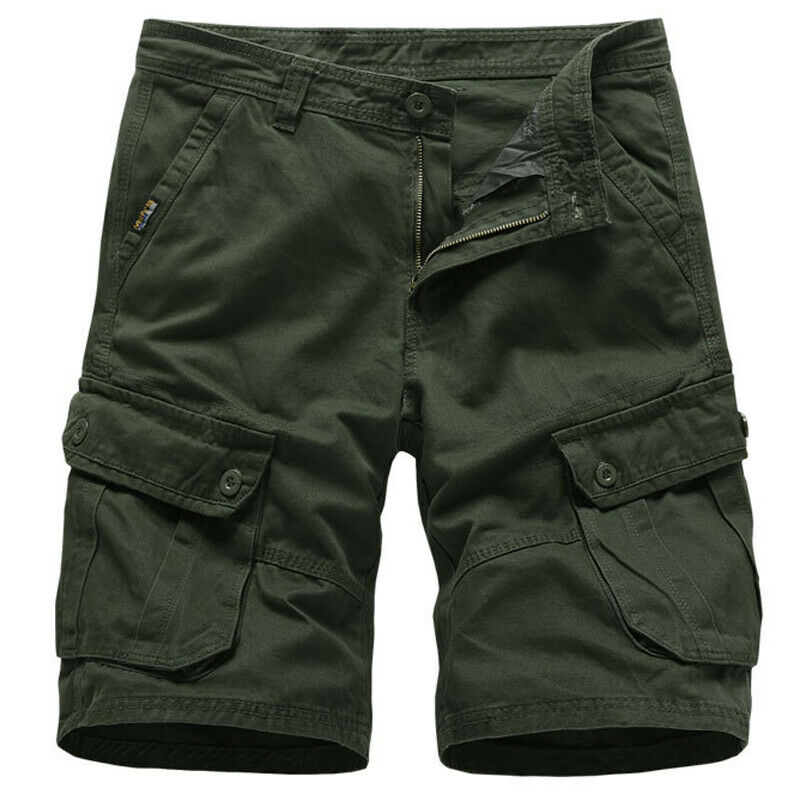 Mens Cargo Combat Work Shorts Trousers Army Military Hiking Camping Half Pants 6