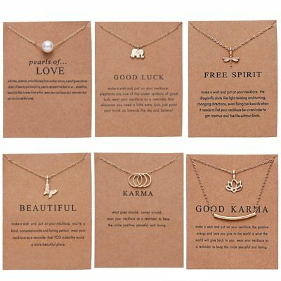 Gold Plated Pearl Bar Dragonfly Butterfly Animal Pendant Necklace Jewelry Gifts 2