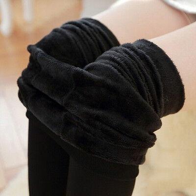 Pantaloni da donna a vita alta elasticizzati in caldo pile con fodera in pile PB 8