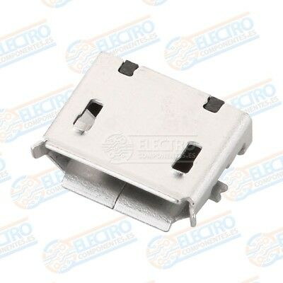 Conector Micro USB Tipo B Hembra soldar SMD standard - Lote 10 unidades - Arduin 4