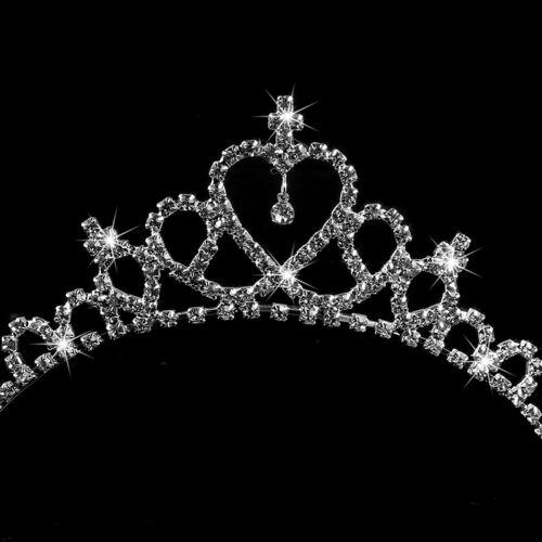 NEW.Kinder Prinzessin Königin Rhinestone Hochzeit Tiara Hair Band Mädchen Krone·