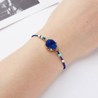 Handmade Natural Stone Rope Bracelet Bangle Friendship Couple Card Jewelry Gifts 8