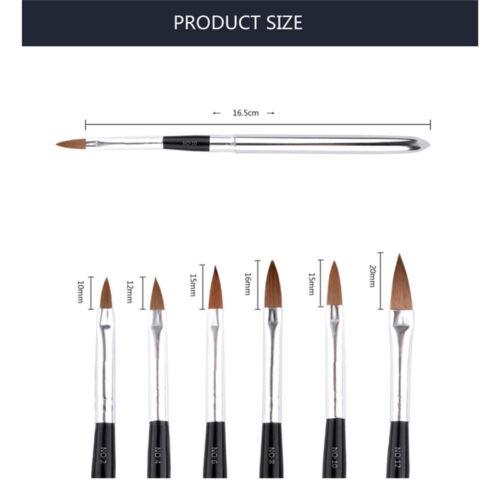 6pcs Acrylic 3d Painting Drawing Uv Gel Diy Brush Pen Tool Nail Art