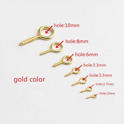 Lot of Eye Pins Eyepins Hooks Eyelets Screw Threaded 4 Color 10mm- 37mm 10-500x 4