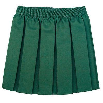 Girls School Uniform Box Pleated Elasticated waist school kids Skirt All Ages 5
