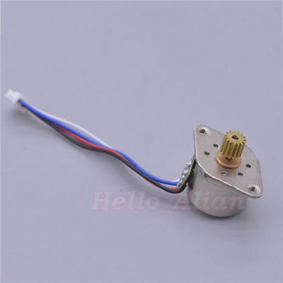 Micro Mini 15MM Stepper Motor 2-Phase 4-Wire  Stepping Motor Copper metal Gear 5