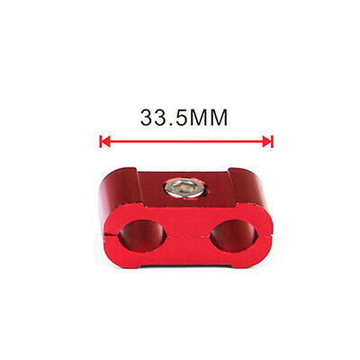 Red Aluminum Engine Spark Plug Wire Separator Divider Organizer Clamp Kit 10mm 3