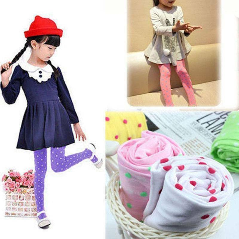 Girls Kids Dotted Tights Stockings Pantyhose Socks Ballet Solid Beauty fashion 2
