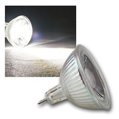 Birne Strahler Lampe 3W /& 5W COB Highpower LED Glas Leuchtmittel MR16 /& GU10