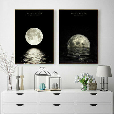 Moon Phases Abstract Nordic Poster Prints Wall Art Canvas Painting Picture Decor 2